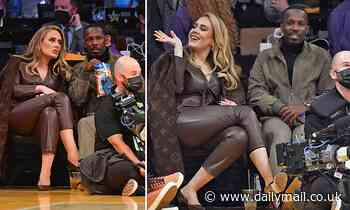 Adele and Rich Paul sit courtside to watch the Lakers take on the Golden State Warriors in LA - Daily Mail