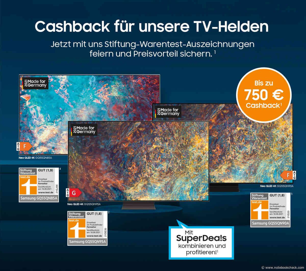 Samsung Neo QLED TVs: Bis zu 1.500 Euro sparen dank doppeltem Cashback - Notebookcheck.com