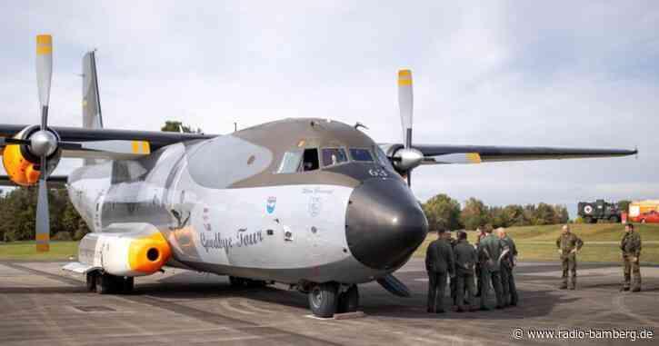 Transall-Maschine für neue Offiziersschule angekommen