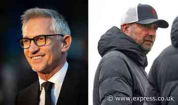 Gary Lineker 'arguing' against Liverpool boss Jurgen Klopp on unwavering stance - Daily Express