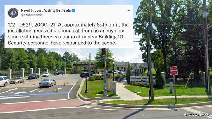 US naval facility sent into lockdown after reports of active shooter & bomb threat