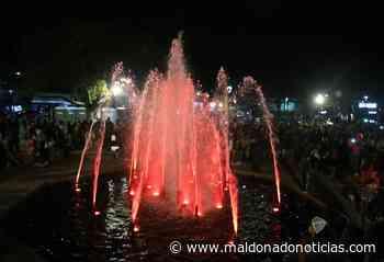 En el Día de Maldonado la fuente de la plaza San Fernando volvió a cobrar vida - maldonadonoticias.com