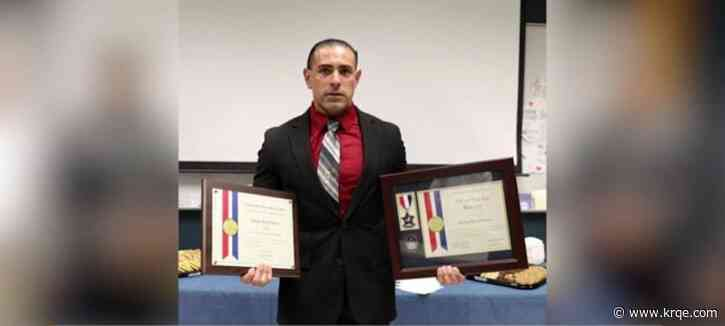 Las Cruces police officer receives awards for role in stopping criminal