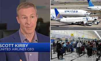 United Airlines CEO says prices are set to soar by holiday season as jet fuel prices rise