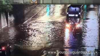 Sutton floods: Urgent warning to avoid roads
