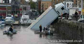 Lorry plunges into floating harbour Bristol LIVE as emergency crews at scene - updates