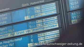 Wegen Sturmtief: NRW und Thüringen stellen Bahnverkehr ein