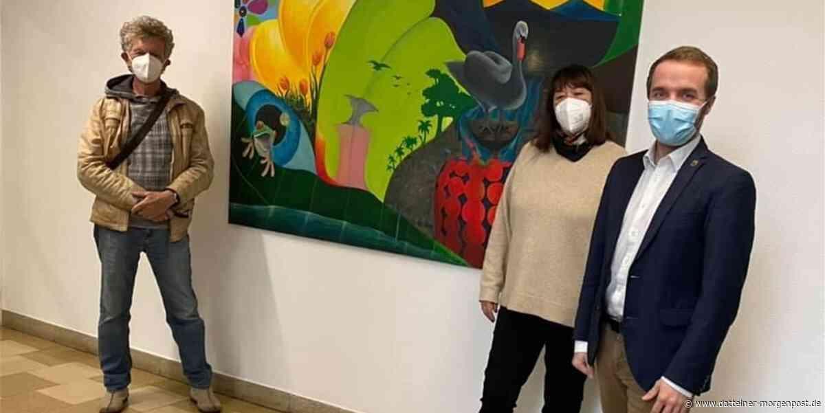 """""""Schwingungen der Seele"""": Kunstwerk macht Halt im Rathaus Waltrop - Dattelner Morgenpost"""