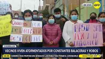 """""""Estamos cansados"""": vecinos de Chorrillos viven atemorizados por constantes balaceras [VIDEO] - RPP Noticias"""