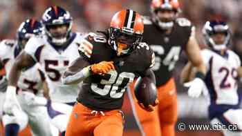 Injury-riddled Browns continue to roll behind ground game in win over Broncos