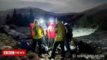 Night rescue of walkers on snow-dusted Cairngorms