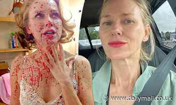 Actress Naomi Watts, 53, flaunts her thespian credentials in blood spatter selfie - Daily Mail