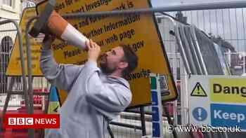 Macclesfield street's sinkhole song is YouTube hit