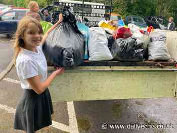 Schoolgirl collects clothes for Southampton City Mission