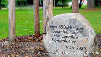 Schützengilde Königslutter erinnert mit Stein an ihre Geschichte