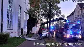 Ignatz war es nicht: Litfaßsäule liegt beschädigt am Boden - Augsburger Allgemeine