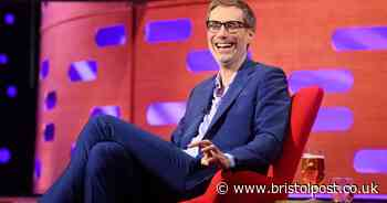 Stephen Merchant appears on The Graham Norton Show after The Outlaws lorry plunges into Bristol Harbour