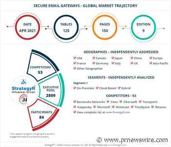New Study from StrategyR Highlights a $6.9 Billion Global Market for Secure Email Gateways by 2026