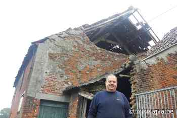 """Aurore blaast in Niel gevel oude boerderij weg: """"Niet eerste keer getroffen door noodweer"""" - Gazet van Antwerpen"""