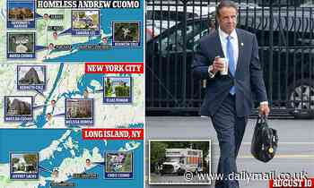 Disgraced Andrew Cuomo has not been seen since leaving governor's mansion in August