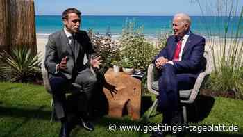 Biden und Macron wollen sich in Rom treffen