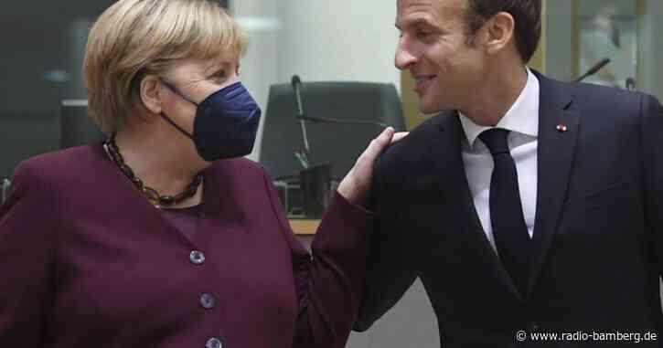 Frankreichs Präsident dankt Merkel für ihr Europa-Engagement