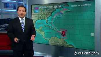 Tropical Storm Bertha soaks Caribbean
