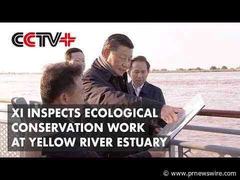 CCTV+: Prezident Si přijel zkontrolovat ekologické práce na ochranu přírody v ústí Žluté řeky