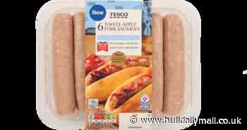 Tesco's toffee apple sausages are a tantalising treat for Bonfire Night