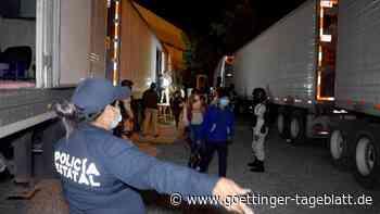 Mexiko: 334 Migranten nach Hilferufen aus einem Lkw gerettet