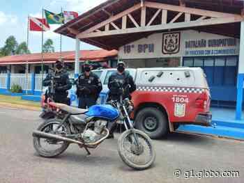 Motocicleta furtada em Monte Alegre é recuperada pela Polícia Militar em Prainha - G1