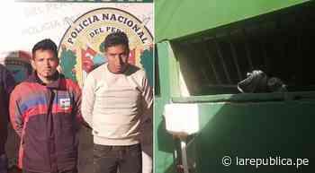 Puno: detenidos por tráfico de droga fugan de calabozo en dependencia policial - La República Perú