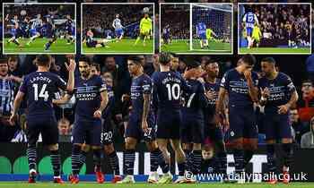 Brighton 1-4 Manchester City: Pep Guardiola's side run rampant on the south coast