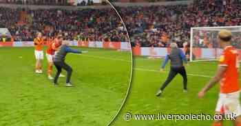 Former Liverpool coach copies Jurgen Klopp celebration after Blackpool win