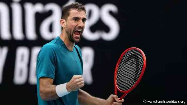 Marin Cilic reacts to making third Moscow final
