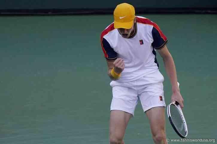 Jannik Sinner reacts to making his fifth final of the season in Antwerp