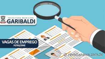 Sine Garibaldi divulga as vagas de emprego a partir de 22/10 - Revista News
