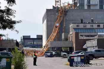 Two cranes will be assembled following crane collapse in Downtown Kelowna