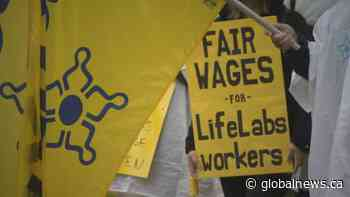 LifeLabs' workers rally in Burnaby