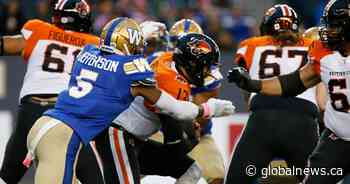 Bombers tame BC Lions 45-0, clinch western final berth at IG Field