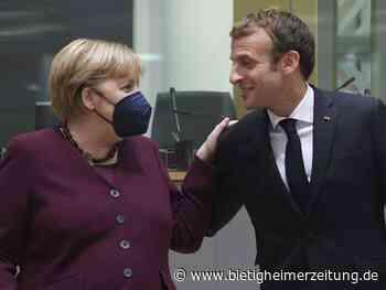 Abschied: Frankreichs Präsident dankt Merkel für ihr Europa-Engagement - Bietigheimer Zeitung