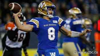 Blue Bombers trounce Lions for 8th straight win, clinch 1st place in West Division