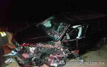 Fuerte accidente deja un fallecido en rúa Parral-Guadalupe y Calvo - El Sol de Parral