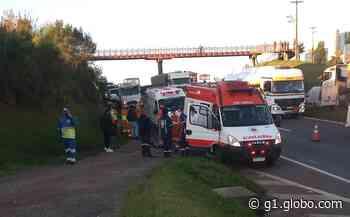 Trabalhador que retirava cones de estrada morre atropelado em Ponta Grossa, diz PRF - G1