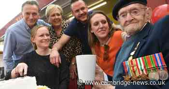 WWII veteran celebrates 100th birthday with guard of honour in Cambridge