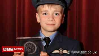 Seven-year-old Leeds boy's RAF award for walking challenges