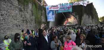 Momentos de tensión en la manifestación de San Sebastián por una protesta de Covite - El Correo