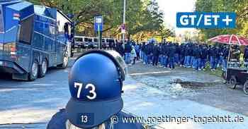 Havelse-Spiel: Polizeihubschrauber, Wasserwerfer und 150 Problem-Fans aus Braunschweig