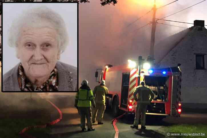 """Jeanne (92) komt om na hevige brand in haar woning: """"Ze is in dat huis geboren en wou er sterven. Maar de manier waarop is verschrikkelijk"""""""