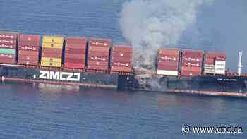 Hazardous materials burned aboard container ship anchored off southern B.C.